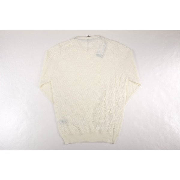 【XXL】 +39 masq マスク 丸首セーター メンズ 秋冬 ヴァージンウール100% ホワイト 白 並行輸入品 ニット 大きいサイズ|utsubostock|04