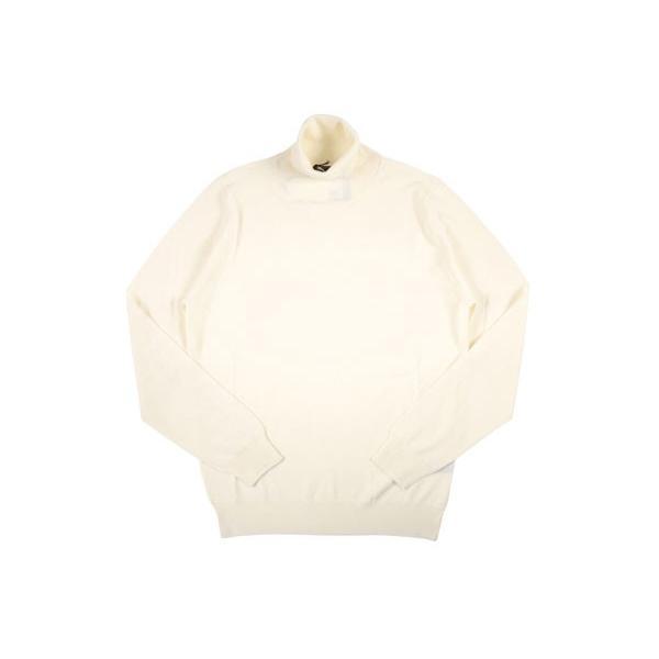 【M】 +39 masq マスク タートルネックセーター メンズ 秋冬 ホワイト 白 並行輸入品 ニット|utsubostock|02