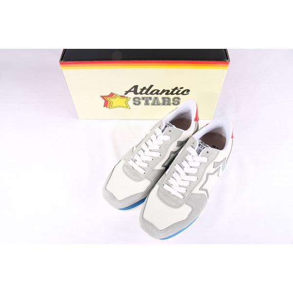 【44】 Atlantic Stars アトランティックスターズ スニーカー ANTARES BAB-34B メンズ 星柄 ホワイト 白 レザー 並行輸入品 大きいサイズ|utsubostock|03