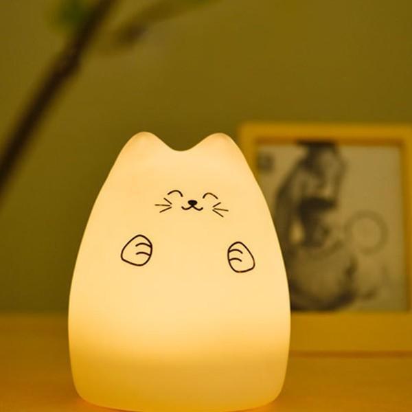間接照明 インテリアライト 充電式 ねこ 猫 可愛い  卓上 デスク 寝室 デスクライト ランプ シリコン 子供|utsunomiyahonpo|08