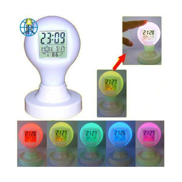 光る時計 インテリア時計 - タッチで切り替え - LED 置時計 LED時計|utsunomiyahonpo