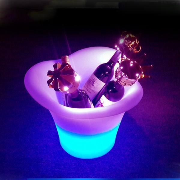 光る ワインクーラー ラウンド型 充電式 SP7 ボトル シャンパン バー イベント 演出 クラブ utsunomiyahonpo 02