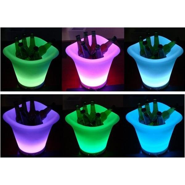 光る ワインクーラー ラウンド型 充電式 SP7 ボトル シャンパン バー イベント 演出 クラブ|utsunomiyahonpo|04