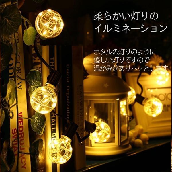 ストリングライト LED イルミネーション 電球 バルブ E11 12球 長さ4.5m 電球色 室内向け  電球型 ガーデンライト utsunomiyahonpo 02