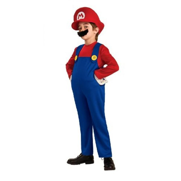 ハロウィン コスプレ 輸入品 Super Mario Brothers Deluxe Child Costume|uujiteki