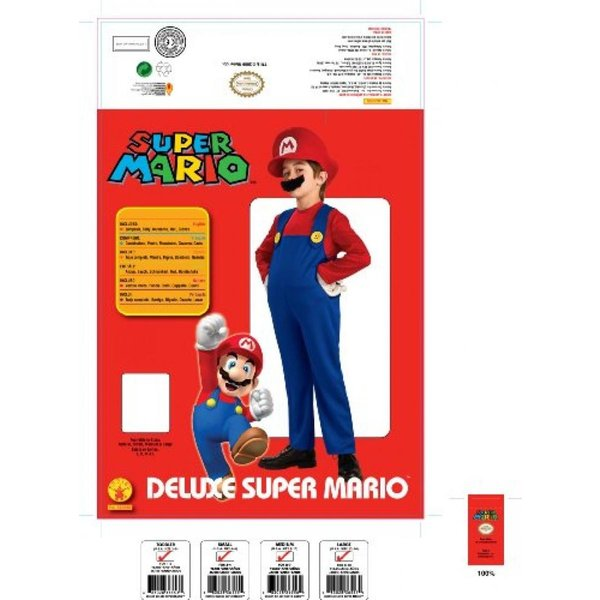 ハロウィン コスプレ 輸入品 Super Mario Brothers Deluxe Child Costume|uujiteki|03