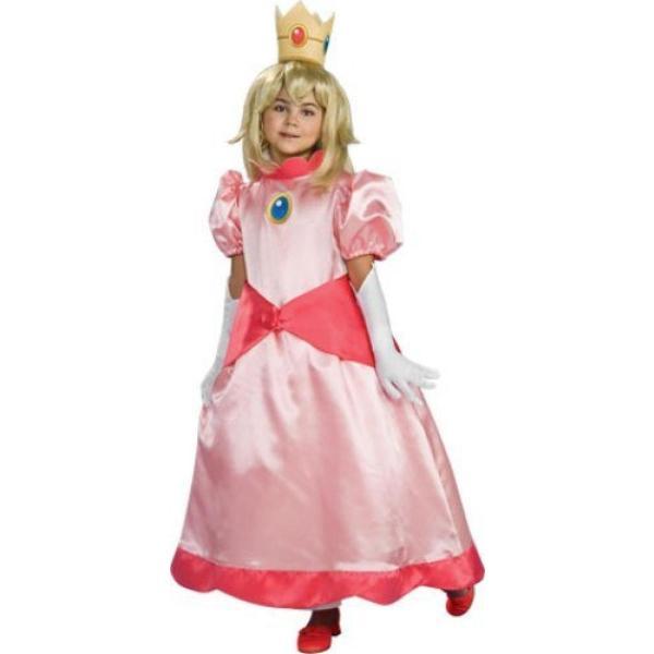 ハロウィン コスプレ 輸入品 Super Mario Brothers Child's Deluxe Costume, Princess Peach Costume|uujiteki