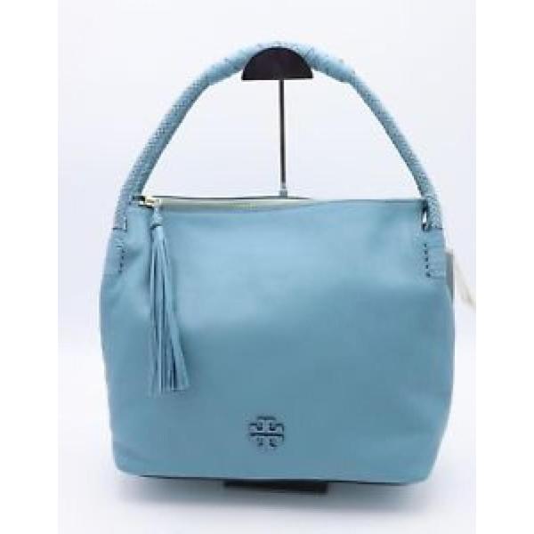 トリーバーチ バッグ 輸入品 NWT Tory Burch Taylor Blue Falls Leather Hobo Shoulder Bag Purse 35582 ($550)