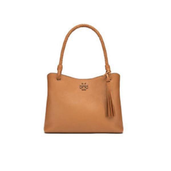 トリーバーチ バッグ 輸入品 TORY BURCH Taylor Triple Compartment Tote Bag Womens Shoulder NWT Gift Saddle