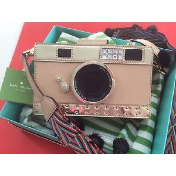 ケイトスペード バッグ 輸入品 NWT Kate Spade Spice Things Up Leather CAMERA BAG, Crossbody Clutch Sold Out!|uujiteki|01
