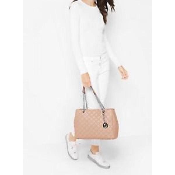 マイケルコース バッグ  輸入品 NWT Michael Kors Susannah Large Quilted-Leathe<wbr/>r Tote/Shoulder Bag in Ballet Pink