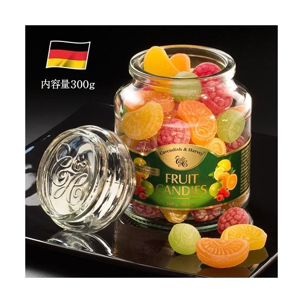 〈カベンディッシュ&ハーベイ〉ミックスフルーツキャンディージャー(300g) お菓子 飴 レモン オレンジ ラズベリー アップル ドイツ製