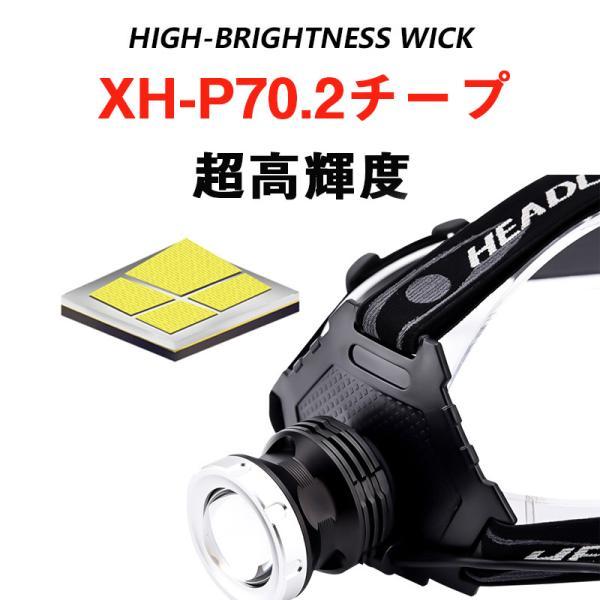 ヘッドライト 超強力 LEDヘッドライト 作業用 釣り 最強ルーメン 超高輝度  8000lm 充電式 8段階の点灯モード ヘルメットライト アウトドア 防災用|uuu-shop|02
