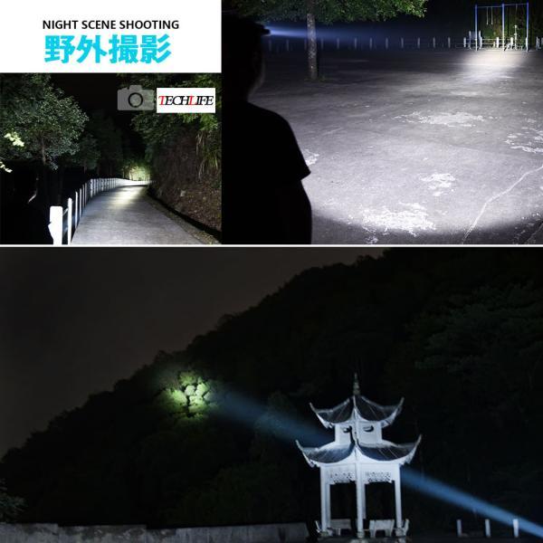 ヘッドライト 超強力 LEDヘッドライト 作業用 釣り 最強ルーメン 超高輝度  8000lm 充電式 8段階の点灯モード ヘルメットライト アウトドア 防災用|uuu-shop|14