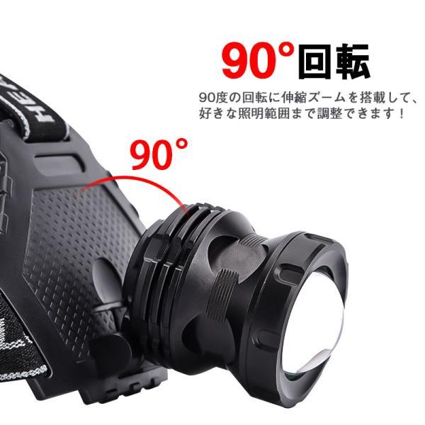 ヘッドライト 超強力 LEDヘッドライト 作業用 釣り 最強ルーメン 超高輝度  8000lm 充電式 8段階の点灯モード ヘルメットライト アウトドア 防災用|uuu-shop|04