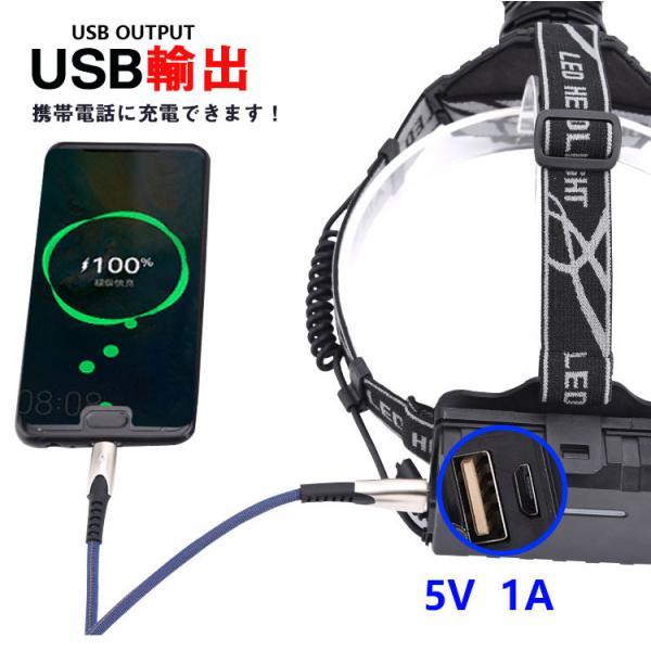 ヘッドライト 超強力 LEDヘッドライト 作業用 釣り 最強ルーメン 超高輝度  8000lm 充電式 8段階の点灯モード ヘルメットライト アウトドア 防災用|uuu-shop|10