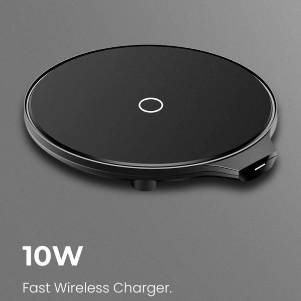 Qi ワイヤレス 充電器 qc 3.0 10W 発熱対策 急速 無線 充電 超薄型 軽量 呼吸ランプ付き 多重保護 チャージャー スマホ充電器 LEDカラ  モバイル|uuu-shop|12