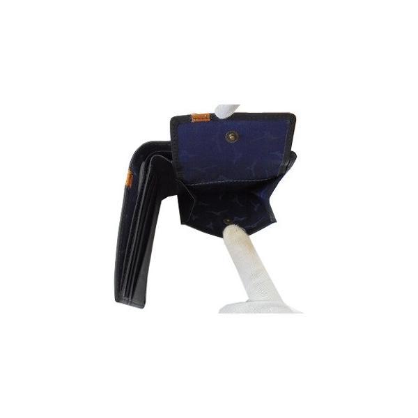 90527ad6162f ... MIZUNO ミズノ コンビカラー グラブ革(グローブ革) 牛革 二つ折財布 グラブアクセサリー