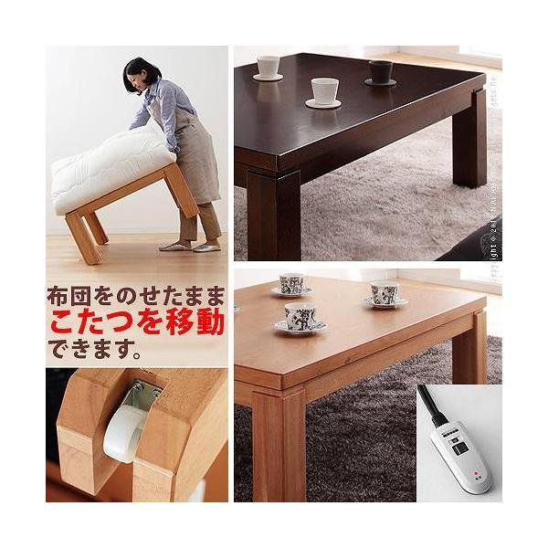 こたつテーブル 正方形 日本製 こたつ布団 セット キャスター付きこたつ トリニティ 80×80cm