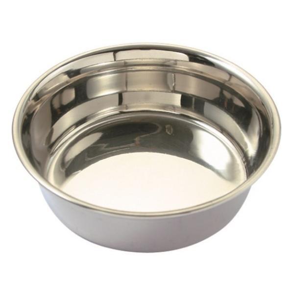 ステンレス食器皿型13cm/ 犬餌入れ