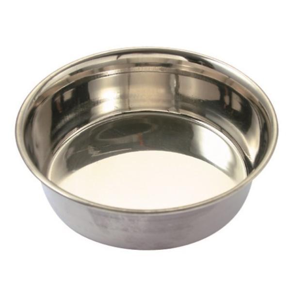 ステンレス食器皿型20cm/ 犬餌入れ