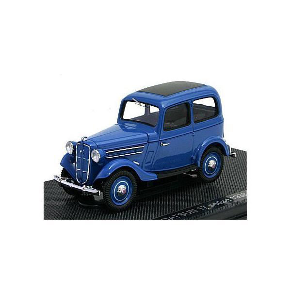 ダットサン 17型 セダン 1938 ダークブルー (1/43 エブロ44346)|v-toys