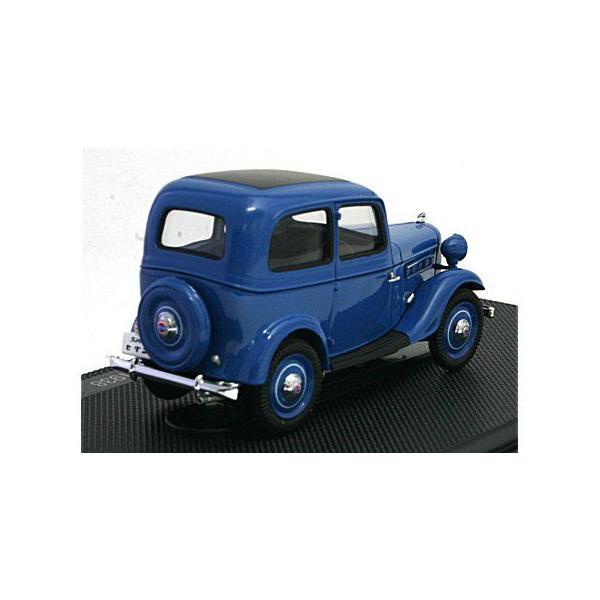 ダットサン 17型 セダン 1938 ダークブルー (1/43 エブロ44346)|v-toys|02