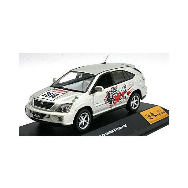 トヨタ ハリアー ハイブリッド プレミアム Sパッケージ 「ニューイヤー 2014 エディション」 シルバーM (1/43 JコレクションJC42003SLN14) v-toys