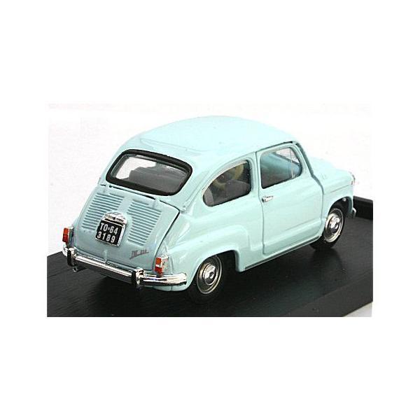 フィアット 600D ベルリナ 1965 ライトブルー (1/43 ブルムR349-03)|v-toys|02
