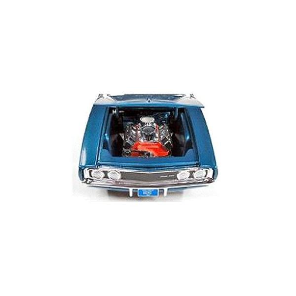 1969 カスタム ダッジ チャージャー ミディアムブルーポリー (1/24 アメリカンマッスルAW24005)|v-toys|02