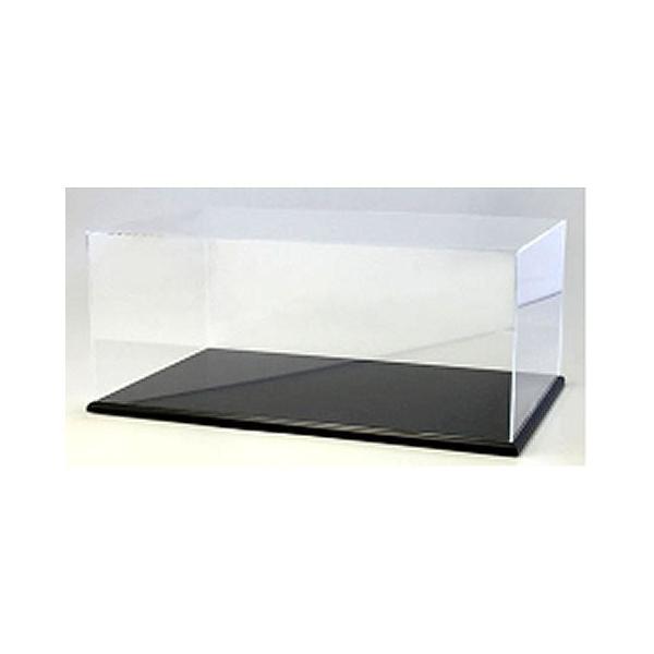 アクリルケース&木製ディスプレイベースセット (大) ブラック (京商KS02071) v-toys