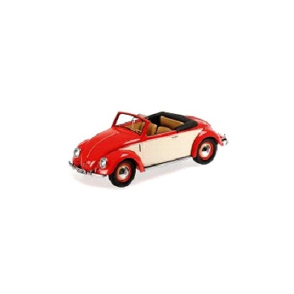 フォルクスワーゲン Kafer カブリオレ Hebmuller 1949 レッド/クリーム (1/18 KKスケール KKDC180112) v-toys