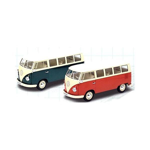 フォルクスワーゲン T1バス 1963 WINDOW VAN グリーン (1/18 ウエリーWE18054GR)|v-toys