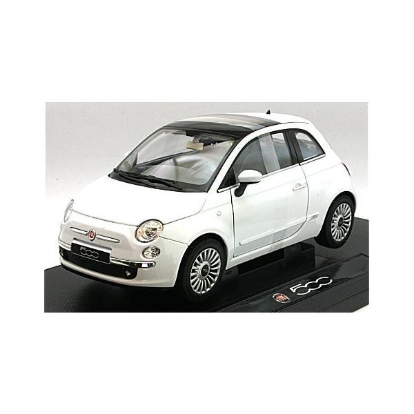 フィアット 500 2007 ホワイト (1/18 ウエリーWE18012W)|v-toys