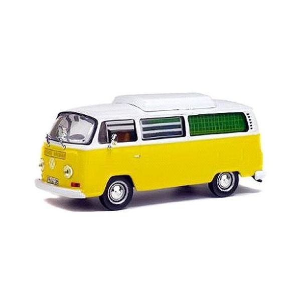 フォルクスワーゲン コンビ T2 キャンピング イエロー/ホワイト (1/43 ソリドS4301000)|v-toys