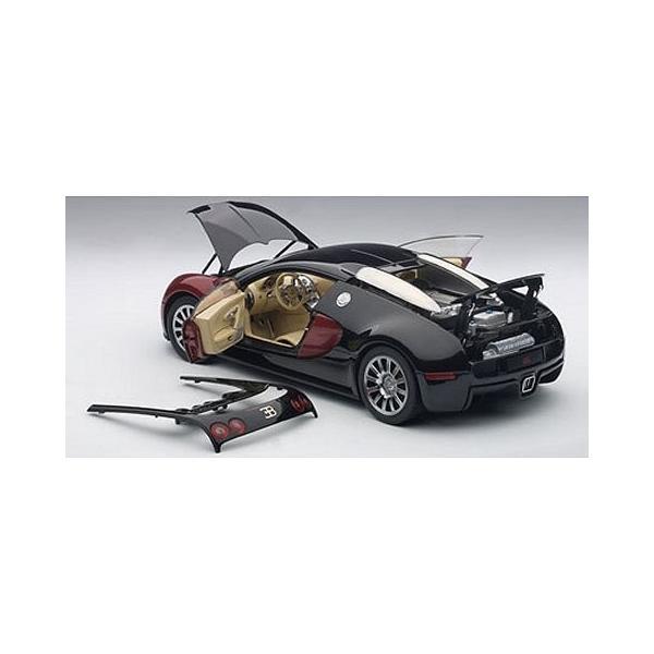 ブガッティ ヴェイロン #001 レッド/ブラック (ベージュ・インテリア) (1/18 オートアート70909)|v-toys|05