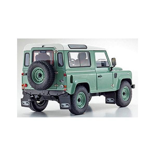 ランドローバー ディフェンダー ヘリテージ グリーン  (1/18 京商KS08901GGR)|v-toys|02