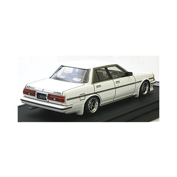 トヨタ クレスタ Super Lucent (GX71) ホワイト Hayashi-Wheel (1/43 イグニションモデルIG0681)|v-toys|02