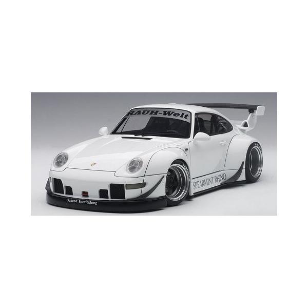RWB 993 ホワイト/ガンメタ・ホイール (1/18 オートアート78150)|v-toys