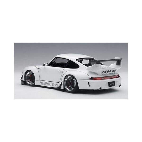RWB 993 ホワイト/ガンメタ・ホイール (1/18 オートアート78150)|v-toys|03