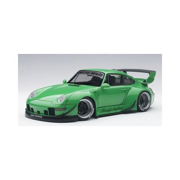 RWB 993 グリーン/ガンメタ・ホイール (1/18 オートアート78151) v-toys