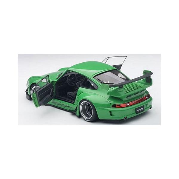 RWB 993 グリーン/ガンメタ・ホイール (1/18 オートアート78151)|v-toys|04