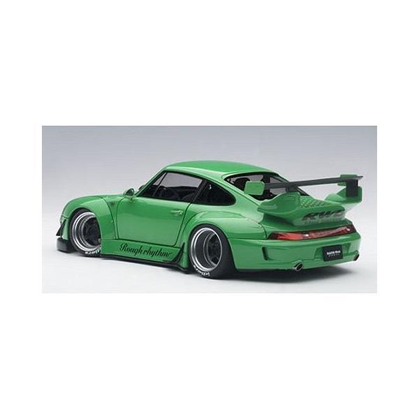 RWB 993 グリーン/ガンメタ・ホイール (1/18 オートアート78151)|v-toys|05
