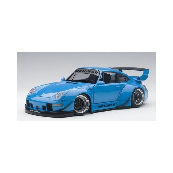 RWB 993 スカイブルー/ガンメタ・ホイール (1/18 オートアート78152)|v-toys