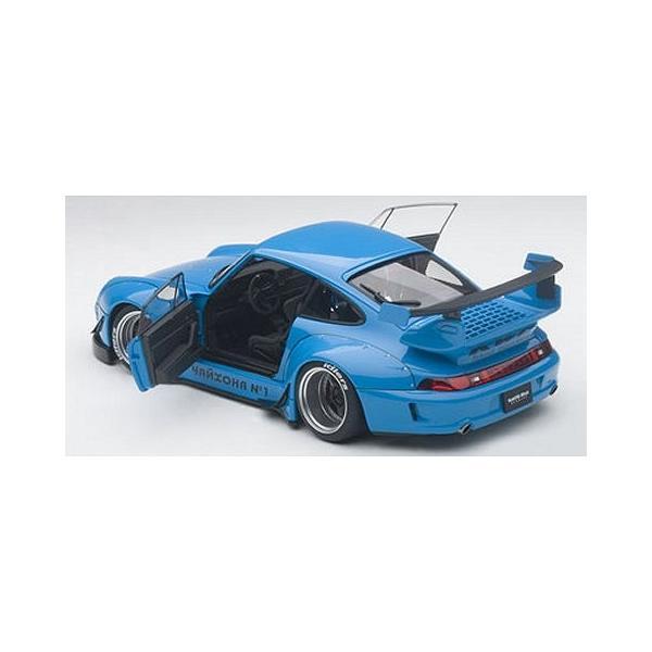 RWB 993 スカイブルー/ガンメタ・ホイール (1/18 オートアート78152)|v-toys|04