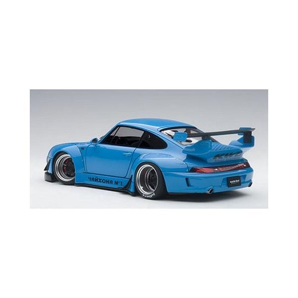 RWB 993 スカイブルー/ガンメタ・ホイール (1/18 オートアート78152)|v-toys|05