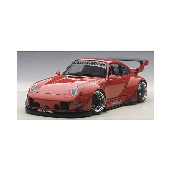 RWB 993 レッド/ガンメタ・ホイール (1/18 オートアート78153)|v-toys
