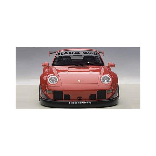 RWB 993 レッド/ガンメタ・ホイール (1/18 オートアート78153)|v-toys|03