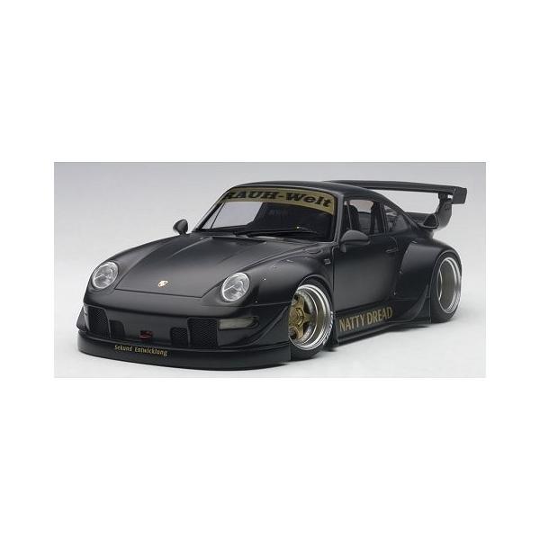 RWB 993 マットブラック/ガンメタ・ホイール (1/18 オートアート78154)|v-toys