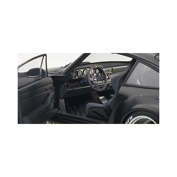 RWB 993 マットブラック/ガンメタ・ホイール (1/18 オートアート78154)|v-toys|02